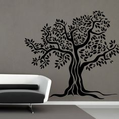 I201 Wall Decal Sticker tree leaves nature oak roots eternity courtyard garden in Home & Garden, Home Décor, Decals, Stickers & Vinyl Art | eBay