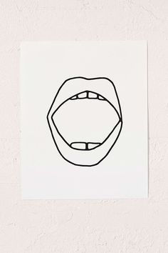 Shop Cult Paper Mouth Art Print at Urban Outfitters today. We carry all the latest styles, colors and brands for you to choose from right here. Mouth Tattoo, Dental, Wood Molding, Branding, Scandinavian Design, Wall Prints, Line Art, Art Photography, Creations