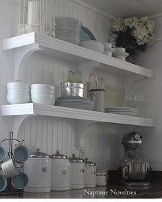 DIY Open Shelves in