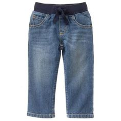 Toddler Boys Light Denim Pull-On Straight Jeans by Gymboree