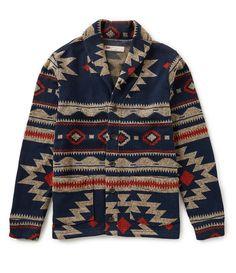 Levi's® Tribal Sweater Knit Fleece Cardigan - Men's style Stylish Mens Fashion, Best Mens Fashion, Fashion Hats, Work Fashion, Fashion Fashion, Fashion Outfits, Tribal Sweater, Men Sweater, Camisa Tribal