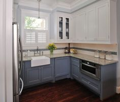 Blue kitchen cabinets on pinterest cabinets islands and kitchens