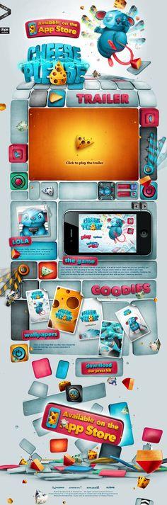 Ideas & Inspirations für Web Designs Website 'http://cheesepleasegame.com/' snapped on Snapito! Schweizer Webdesign http://www.swisswebwork.ch