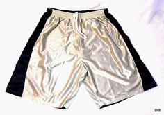 Mens Basketball Gym Casual Shorts Reversible Silver/Navy Sizes XL and 2 XL New #AllesonAthletic #CasualShortsBasketballShortsGymShorts