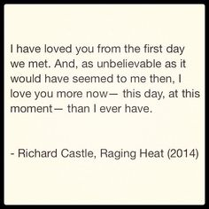 Quote from Raging Heat, the latest book of Nikki Heat series, by Richard Castle. Castle Series, Castle Tv Shows, Castle Quotes, Castle 2009, Richard Castle, Castle Beckett, Different Quotes, Tv Show Quotes, Stana Katic