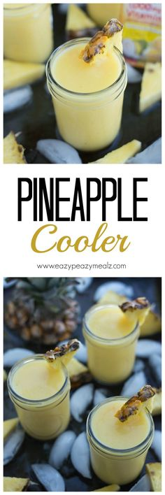 Pineapple Cooler: A fresh summer drink, that will help you stay #Healthyandhydrated with great flavor! #ad - Eazy Peazy Mealz
