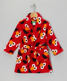 Take a look at this Red Elmo Bathrobe - Toddler by Sesame Street Collection on @zulily today!