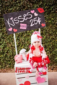 Mwah! It's a Kissing Booth - 1st birthday idea for my almost V-day baby