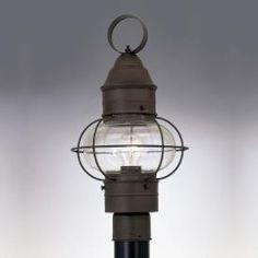 Designers Fountain 1766 RT Nantucket   One Light Outdoor Onion Post Lantern  Barn Lighting,