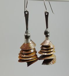 Rusty steel and pewter by pipnmolly on Etsy, $48.00
