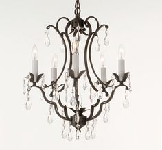 G7 616 5 Gallery Wrought With Crystal Versailles Iron Chandelier