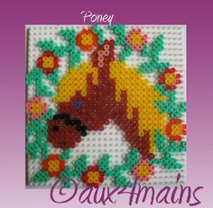 Poney hama perler by aux4mains