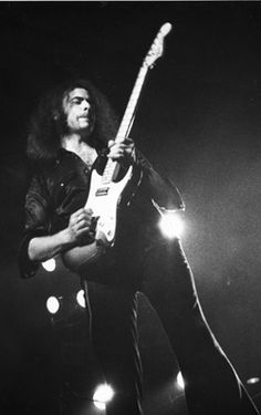 """Ritchie Blackmore - Watch any of the live performances with Deep Purple, or Rainbow, and you will see a virtuouso at odds with his instrument, for not keeping up with the pace of his mind and fingers' creation.  Love the song """"Mistreated""""."""