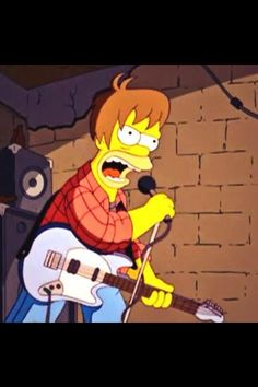 The Simpsons Go Grunge