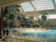 West Edmonton Mall Waterpark in Canada- the world's largest inddor beach