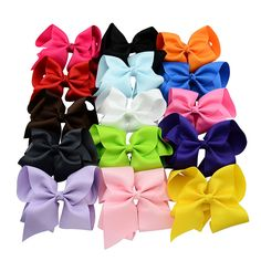 10pcs Boutique Ribbon HairBow Summer Style Bows Baby Solid Hairbows Hairclip For Kid Hamdmade Barrette Hair Bow For Children #Affiliate