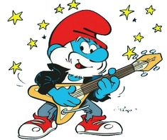 Christmas Cartoon Characters, Christmas Cartoons, Smurf Village, Hot Blue, Smurfette, Original Music, Stained Glass Patterns, Animation Series, Thanksgiving