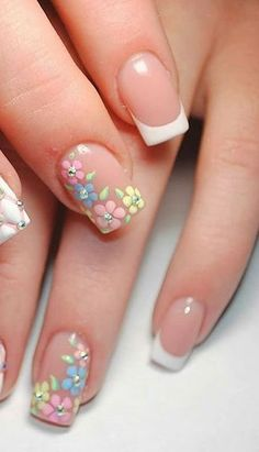 Pin on hair ideas Pin on hair ideas Classy Nails, Fancy Nails, Simple Nails, Cute Nails, Frensh Nails, Nail Manicure, Nail Art Designs Videos, Pretty Nail Art, Nail Art Hacks
