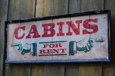 Rustic Cabin Sign