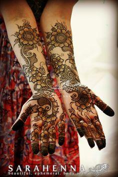Unique bridal palms for Megha