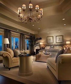 xx master - love the warmth. and that ceiling is to DIE for. different chandelier though:
