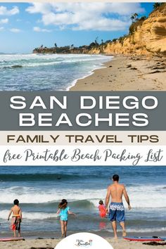 Which San Diego beaches are best for families and which should be avoided? Get the top California family travel tips for a San Diego beach vacation including which beaches are best, what to pack, and a free printable beach packing checklist. #SanDiego #California #Beach #BeachVacation #TravelwithKids #FamilyTravel #Beaches #SoCal Beach Packing Checklist, Packing List Beach, San Diego Vacation, San Diego Beach, California Beach, California Travel, Family Vacation Destinations, Vacation Trips, Travel With Kids