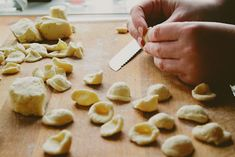 homemade orrechiette, just flour (durum wheat or semolina, and all-purpose), salt, and water. no pasta machine or rolling needed!