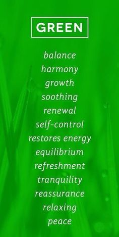 Color meaning - green