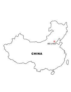 China map printable blank white outline. | Homeschool | Pinterest ...