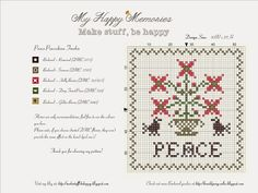 Peace Pincushion FreebieMyHappyMemories