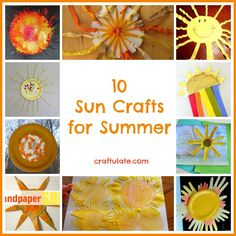 10 Sun Crafts (from Craftulate)