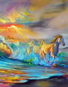 art surrealista Warmth of the sun - Jim Warren Horse Drawings, Art Drawings, Art Sketches, Horse Artwork, Horse Paintings, Dark Paintings, Horse Pictures, Fine Art, Surreal Art