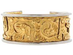 Jean Mahie Cuff Bracelet in 22K and Platinum from Beladora.com
