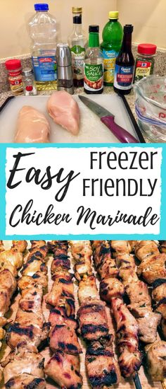 This easy chicken marinade recipe will give you a new found love of chicken breasts!  I store the marinated chicken in the freezer, so the prep work is very easy!  Just thaw and grill!