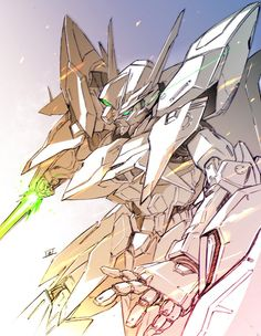 Gaming Computer Setup, Gundam 00, Cool Robots, Mecha Anime, Mobile Suit, Cool Designs, Character Design, Manga, Drawings