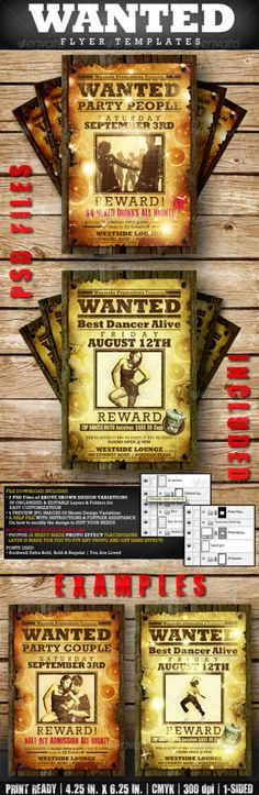 Pin by Mike James on Flyer Templates Pinterest Creative, Flyer - most wanted poster templates