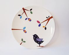 Bird wall plate - Small Size
