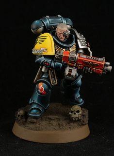 Warhammer Armies, Warhammer 40000, Miniaturas Warhammer 40k, Deathwatch, Imperial Fist, Warhammer Models, Warhammer 40k Miniatures, Mini Paintings, Space Marine
