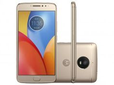 "Smartphone Motorola Moto E4 Plus 16GB Ouro - Dual Chip 4G Câm. 13MP + Selfie 5MP Tela 5.5"" HD"