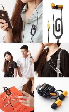 Paper clip earphone bracket