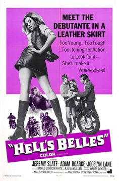 """""""Hell's Belles"""" 1970 movie poster"""