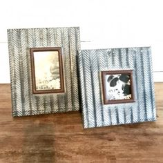 Ornate Pressed Tin Picture Frame