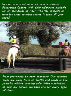 Some of the superb facilities we have for the horse and rider