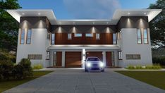 Modern Skillion Roof Townhouse Plan:269DU