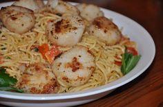 Easy Pasta with Seared Scallops Recipe