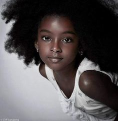 Who says that black people cant have beautiful children? No shade to the biracial babies, but I'm sick of people saying a black man and a black woman cannot have a beautiful child. The proof is in this princess here.