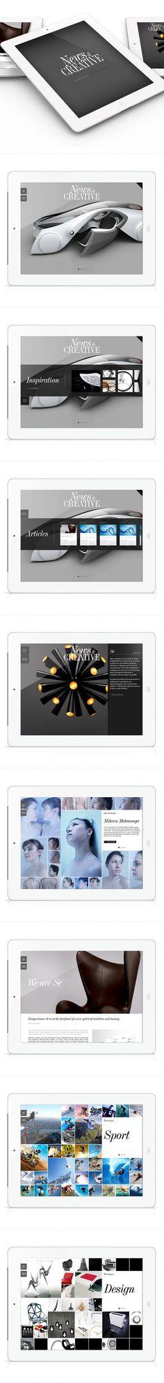 News Creative by Sylvain Weiss, via Behance   ***   Ipad Mag Application