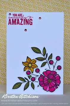 Kirsten Aitchison | Falling Flowers | Case This! Challenge #001 | Click to see…