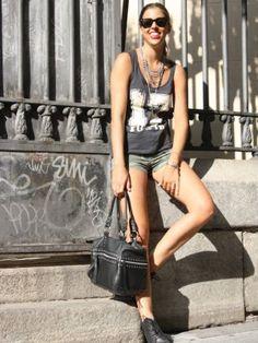 Modaxatodas Outfit  transparencia camuflaje  Verano 2012. Cómo vestirse y combinar según Modaxatodas el 12-9-2012