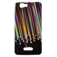 Coque Wiko Rainbow Pluie d'étoiles filantes
